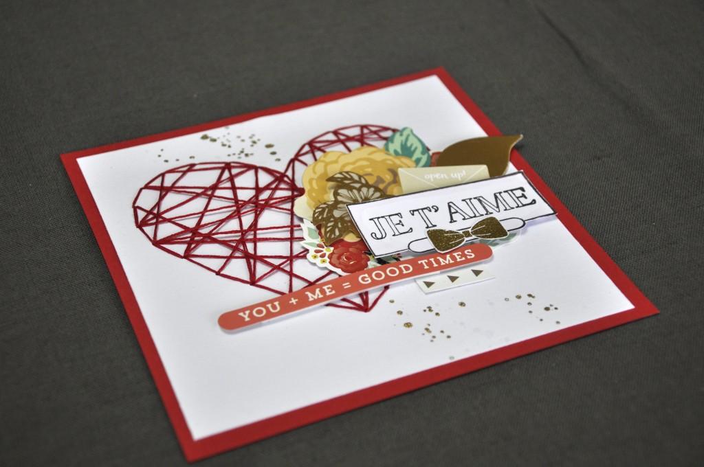 Une carte pour dire je t'aime